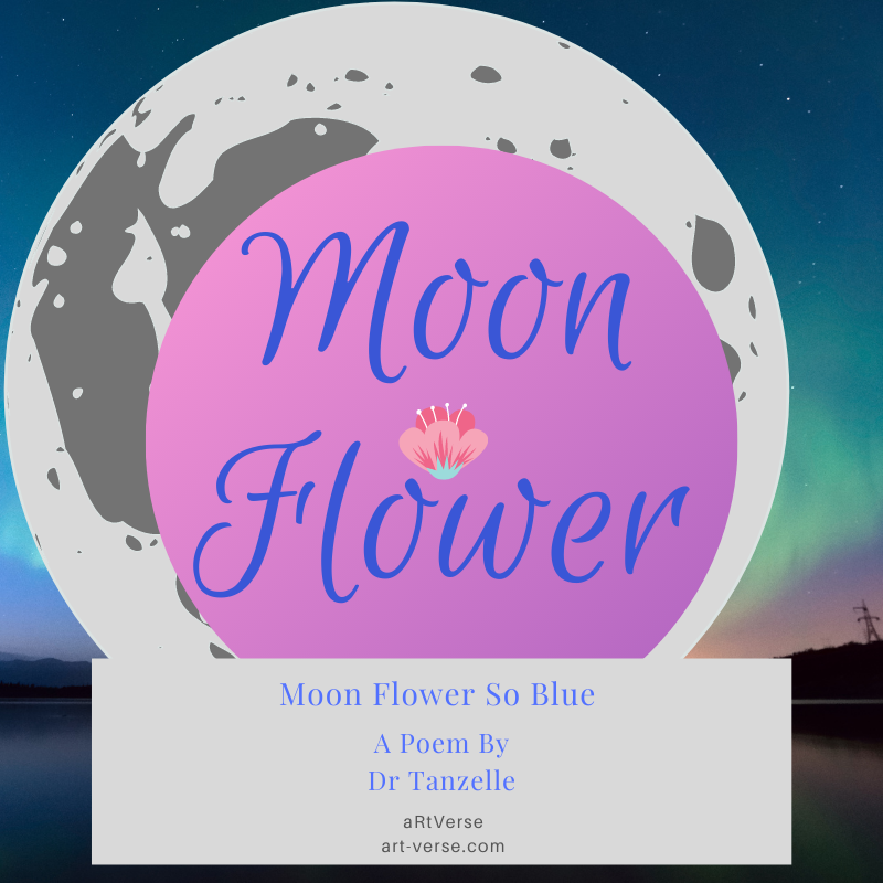 Moon Flower, artverse, art-verse.com, poem,