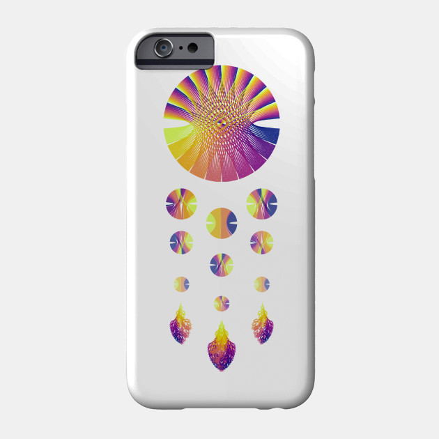 Dream Catcher | Sunset Blue Red Yellow (White) Design Phonecase, artverse, teepublic