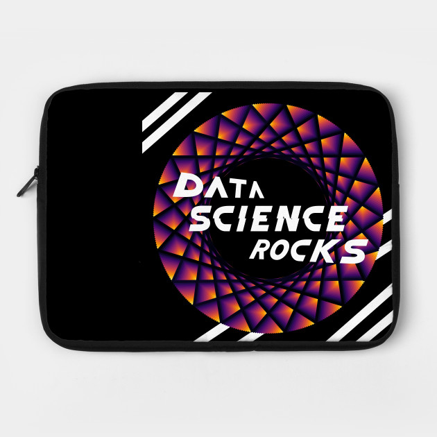Data Science Rocks, Black Red Yellow, Laptop Sleeve, Teepublic