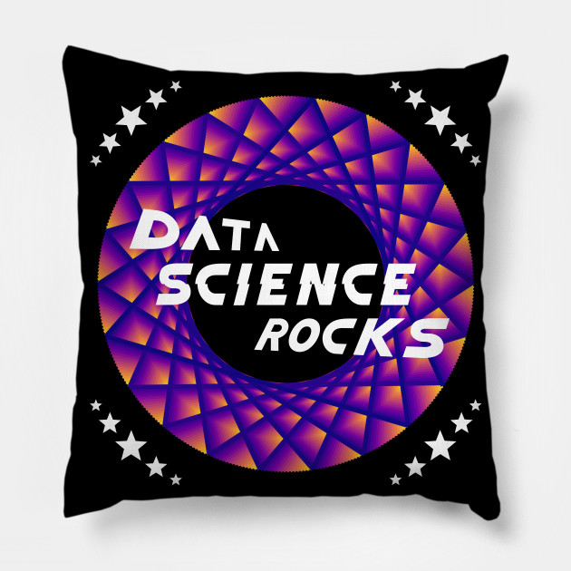 Data Science Rocks, Blue Red Yellow, Throw Pillow