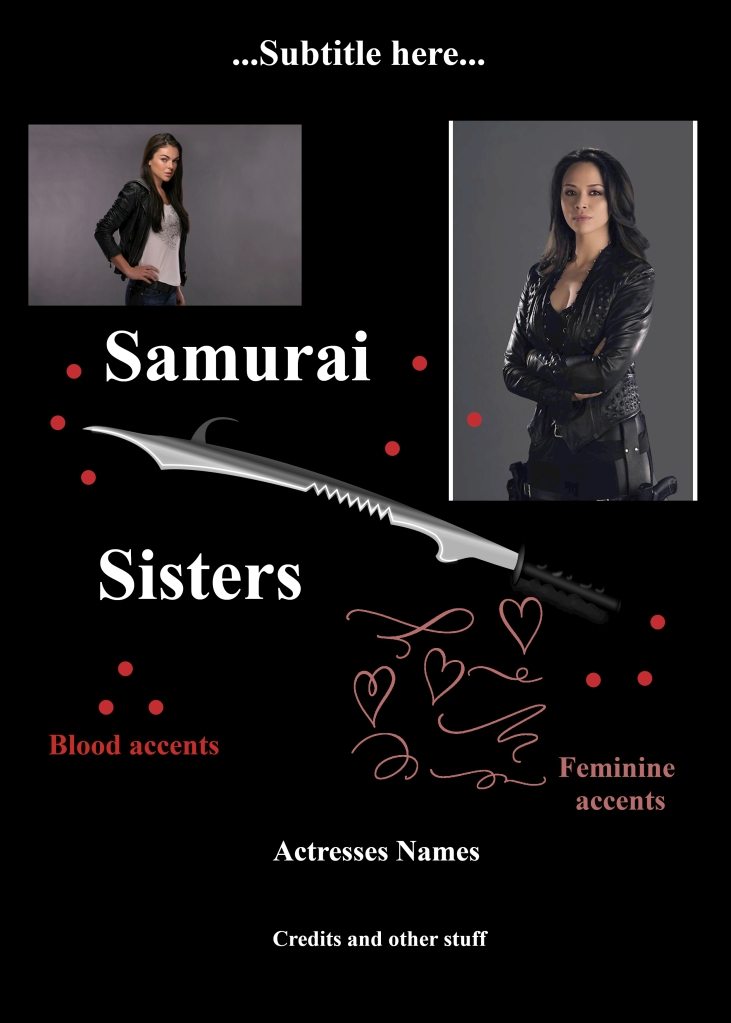 Graphic Design Challenge Movie Poster Samurai Sisters Concept Plan Layout