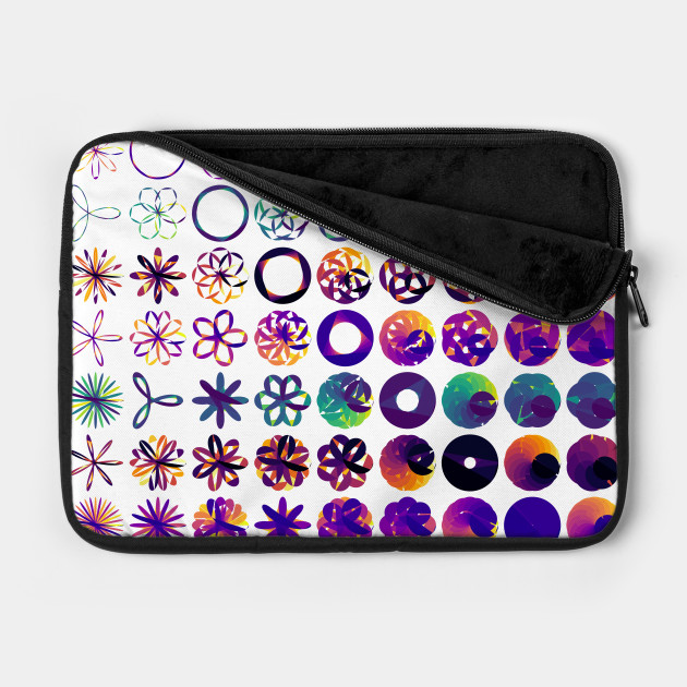 Rose, Rhodonea, Curves, aRtVerse, MindFrameShift, geometry, mathematics, polygon plots, data art, code art, algorithmic art, generative art, math art, data science, R programming, laptop case