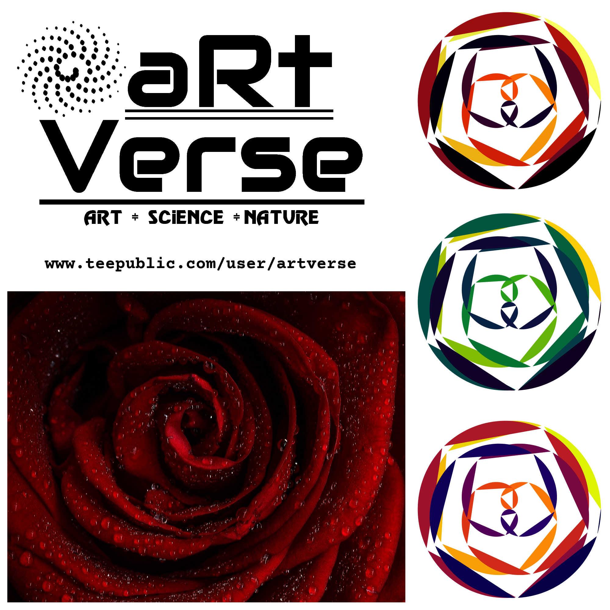 Rose, Rhodonea, Curves, aRtVerse, MindFrameShift, geometry, mathematics, line plots, point plots, polygon plots, data art, code art, algorithmic art, generative art, math art, data science, R programming, teepublic