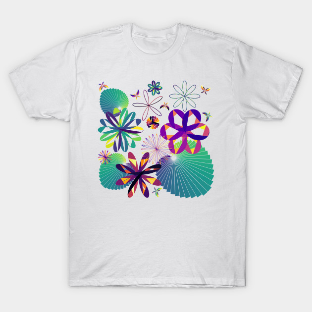 data art, code art, math art, ggplot2, R programming, leaves, flowers, butterflies, garden, inferno, viridis, plasma, data analytics, data science, artverse, tanzelle oberholster, teepublic, white, t shirt