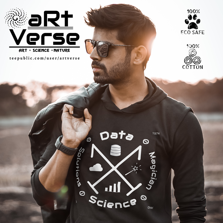gifts for data scientist, gifts for data analysts, gifts for data nerd, gifts for machine learning scientist, gifts for programmer, gifts for big data scientist, hoodie, man, sunglasses, leather jacket, sunset, cool, biodegradable ink, cotton, artverse, teepublic, gifts for data geek