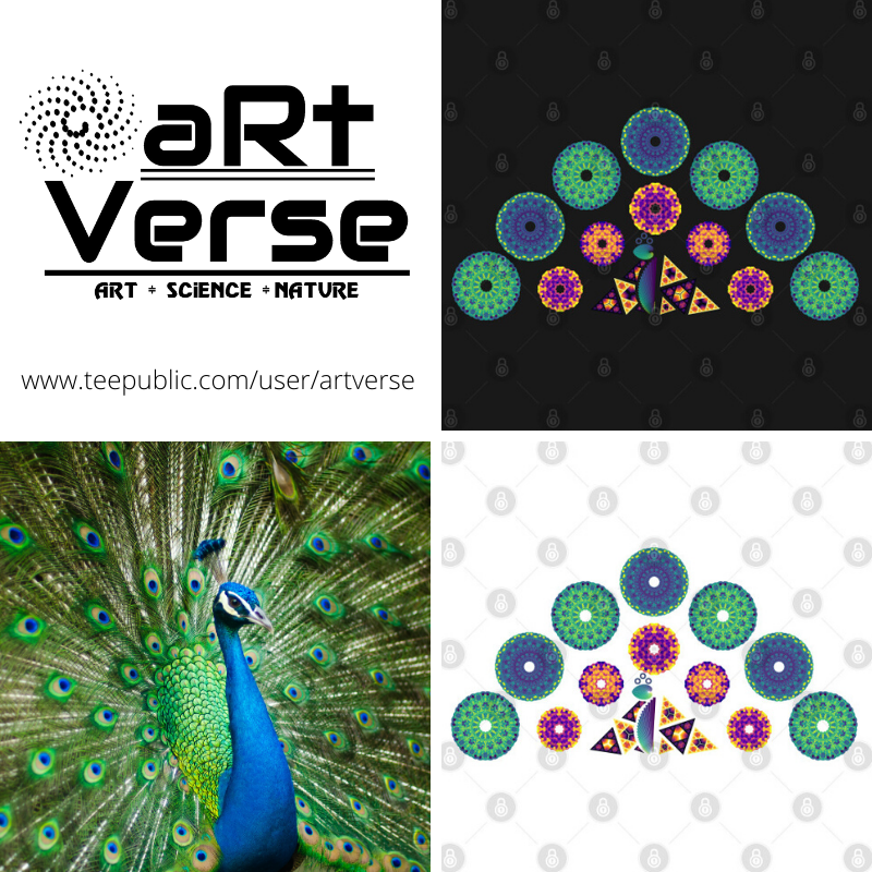 Mandala, Peacock, Polygons, artverse, tanzelle oberholster, data science, data analytics, ggplot2, R studio, R programming, data art, math art, code art, generative art, algorithmic art, data nerd, bar chart, maurer rose