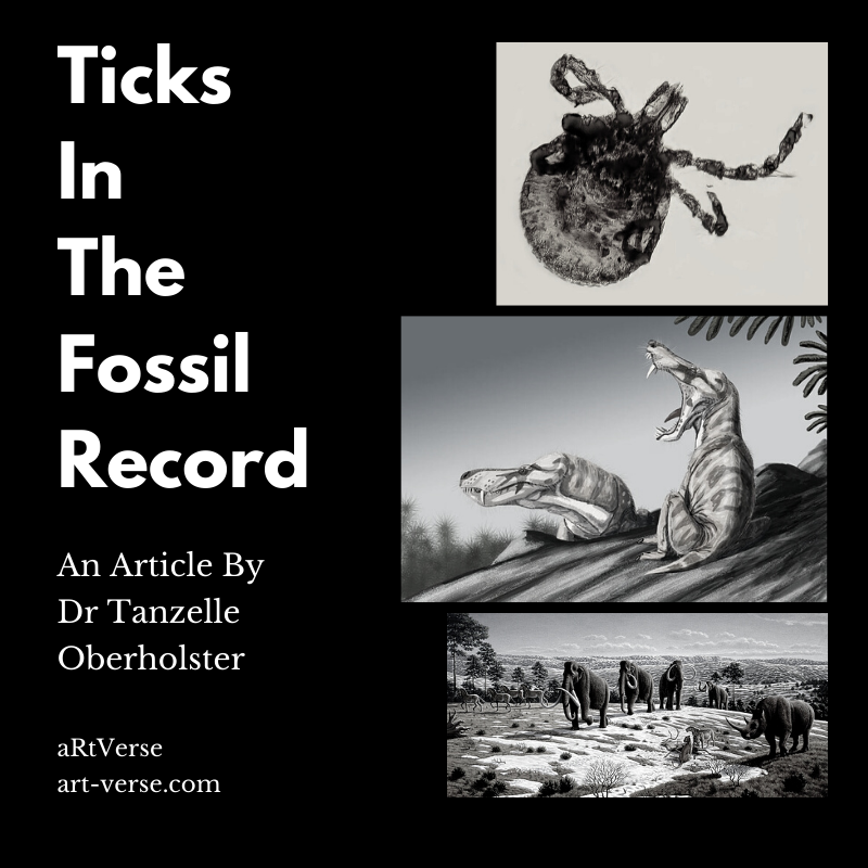 ticks in the fossil record, artverse, tanzelle oberholster, art-verse.com, article, ticks, ancient, therapsids, woolly mammoth, woolly rhino