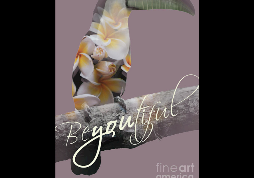 beautiful, toucan,frangipani, flower, bird, floral, flora, double exposure, photograph, typography, pink, purple, yellow, green, orange, black, animal, nature, office, work, corporate, enterprise, business, professional, elegant, soft, modern, digital, art, script, hand writing, birthday, magazine, web, print, media, for him, for her