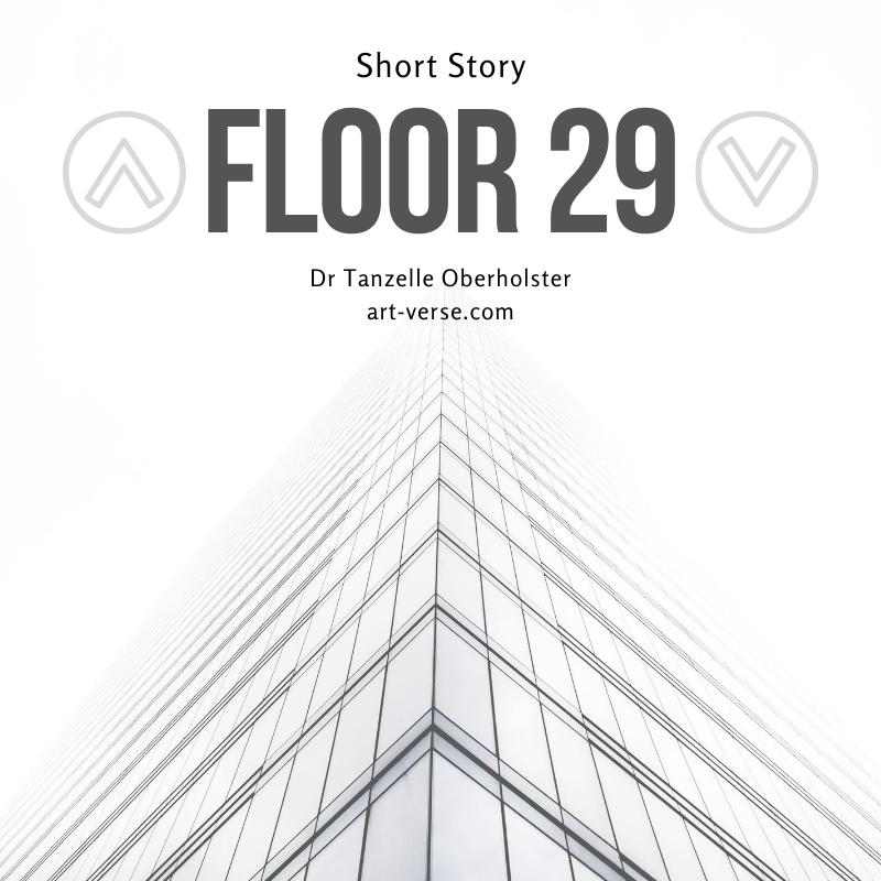 Floor 29, fiction, short story, elevator, office, building, no floor, no roof, Dr Tanzelle Oberholster, art-verse.com