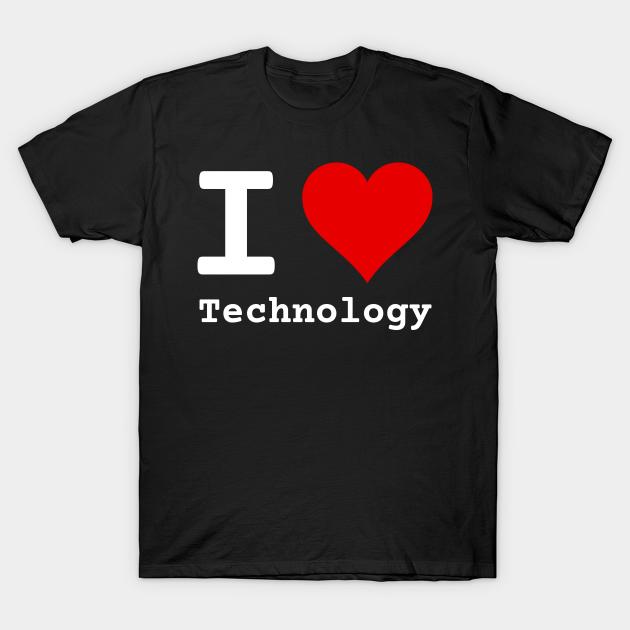 I Love Technology   Stylized Heart Logo White T-Shirt. data science, data, data nerd, data analytics, computer science, computer programming, software engineer, big data, artificial intelligence, machine learning, artverse, tanzelle oberholster, teepublic