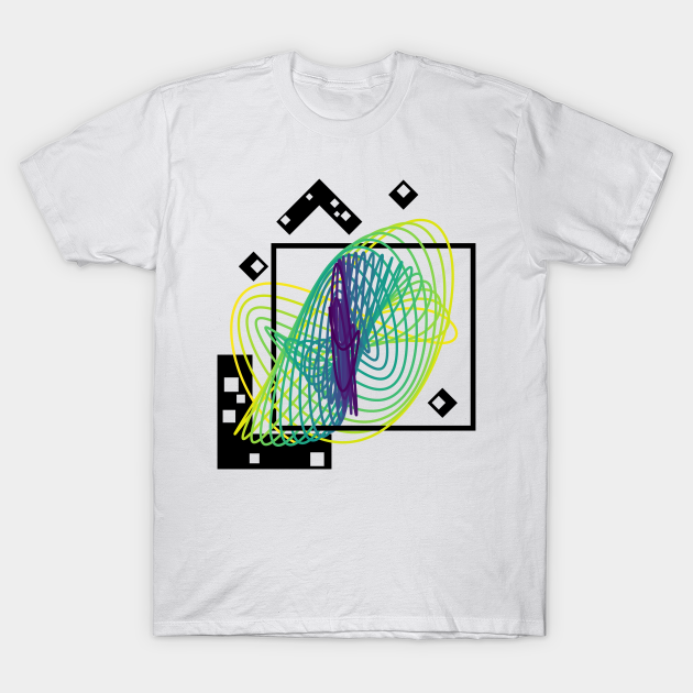 Harmonograph Pendulum Geometry | Viridis MultiVerse Yellow Green Blue T-Shirt.data science, data, data nerd, data analytics, computer science, computer programming, software engineer, big data, artificial intelligence, machine learning, artverse, tanzelle oberholster, teepublic